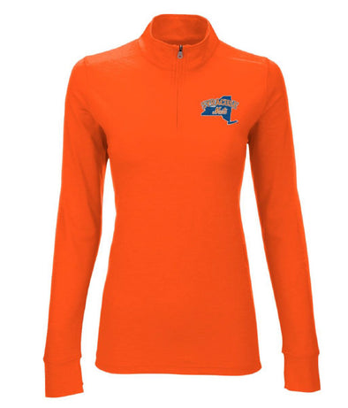 Orange Ladies 1/4 Zip Pullover