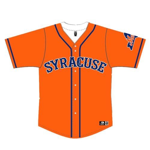 Syracuse Mets OT Alternate Replica Orange Jersey