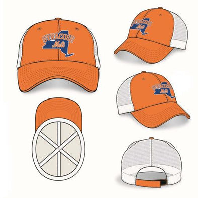 Syracuse Mets OC Orange/White Mesh Adj. Cap