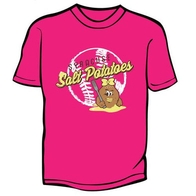 Syracuse Mets Pink Salt Potatoes Youth T-shirt
