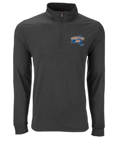Dark Grey Men's Vansport 1/4 Zip Pullover