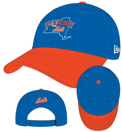 New Era The League Royal/Orange Adj. Cap