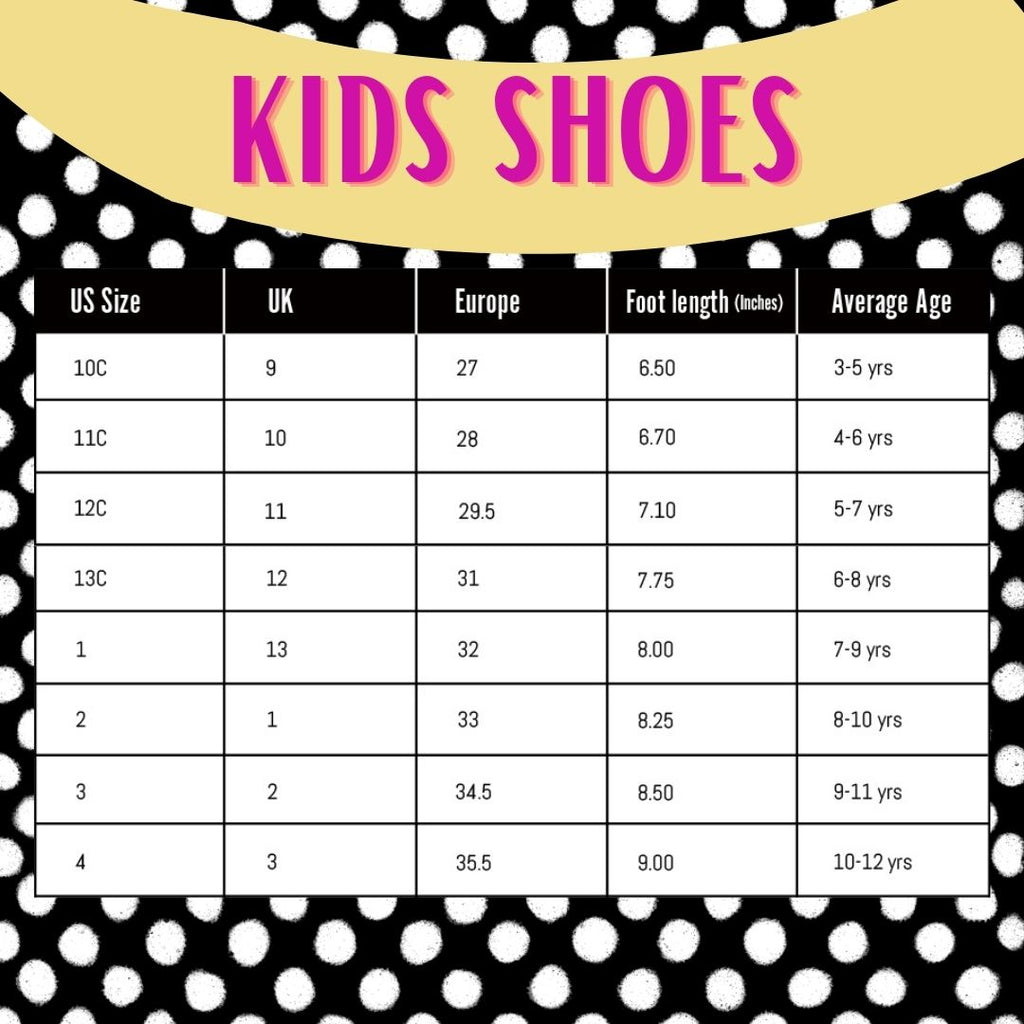 doublesolid kids shoes size guide