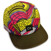 Shine Wax Print 5-Panel Hat