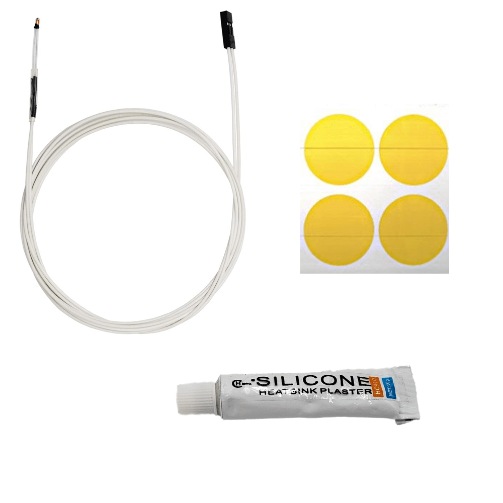 Heat Bed Boo Boo Kit - Replacement Thermistor, Silicone and Kapton Tape