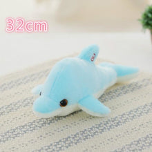 Load image into Gallery viewer, Luminous Glowing Star & Moon Cushions 32Cm Blue Dolphins Toys