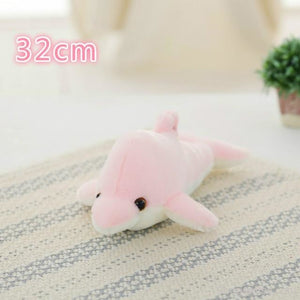 Luminous Glowing Star & Moon Cushions 32Cm Pink Dolphins Toys