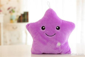 Luminous Glowing Star & Moon Cushions Purple Toys