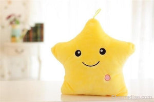 Luminous Glowing Star & Moon Cushions Yellow Toys