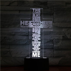 Jesus Cross 3D Night Light
