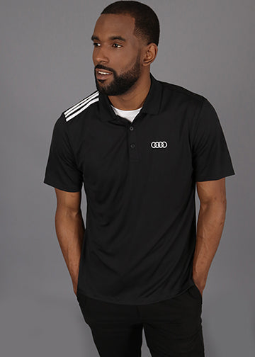 adidas 3-Stripes Shoulder Polo