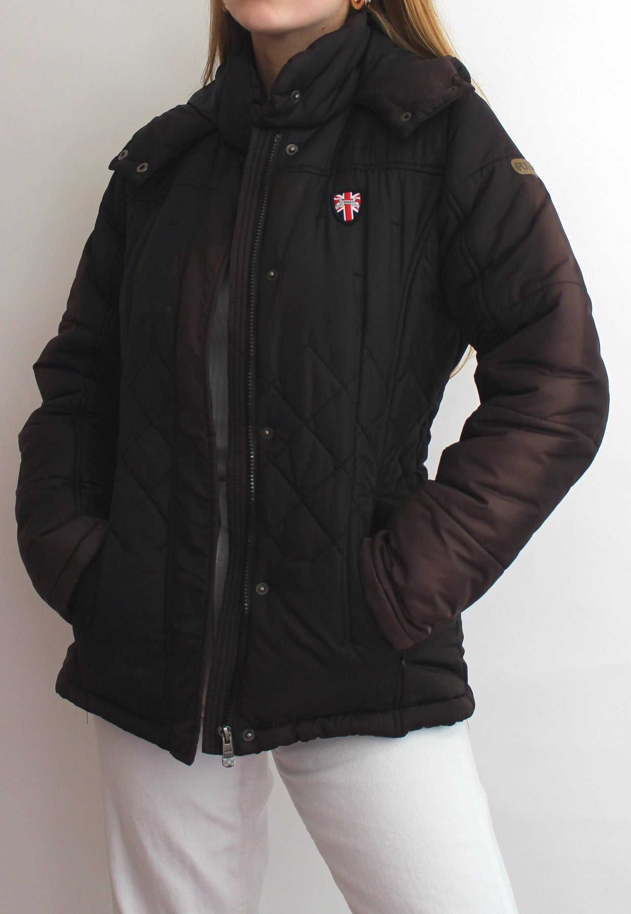 Dark Brown Puffa Padded Coat