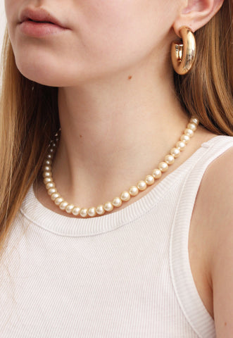 Champagne Faux Pearl Vintage Necklace