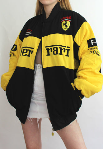 Yellow & Black Official Ferrari Vintage Racing Jacket