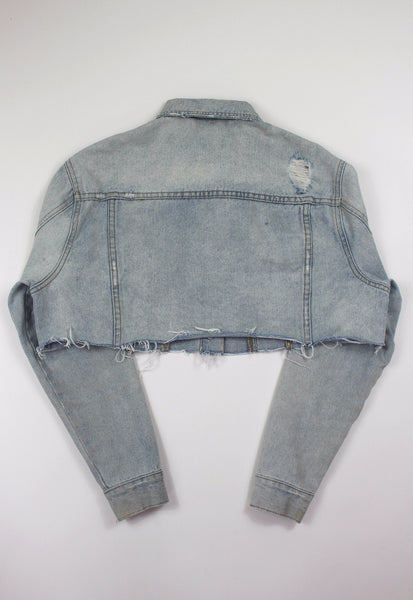 Blue Cropped Denim Jacket