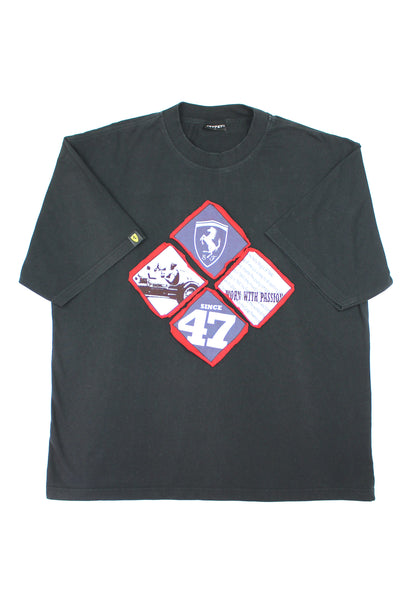 Black Graphic Official Ferrari T-Shirt