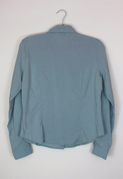 Y2K Old New Look Tag Blue Shirt