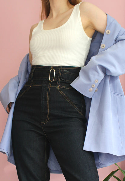 Dark Wash Super High Waisted Guess Jeans