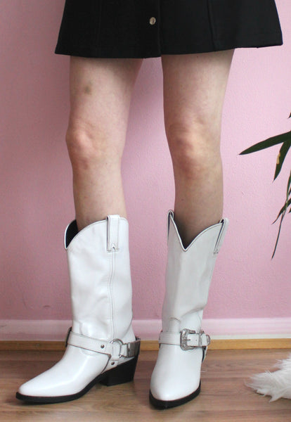 White Western Cowboy Boots