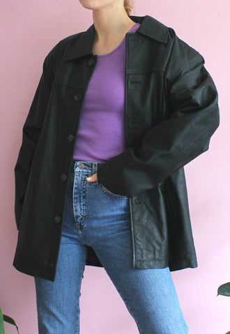 Vintage Oversized Leather Jacket