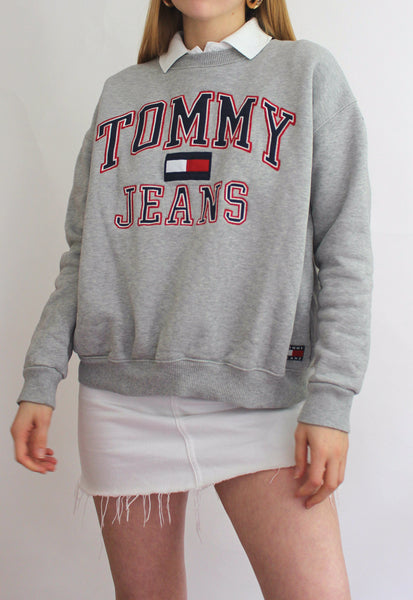 Grey Tommy Hilfiger Spell Out Sweatshirt
