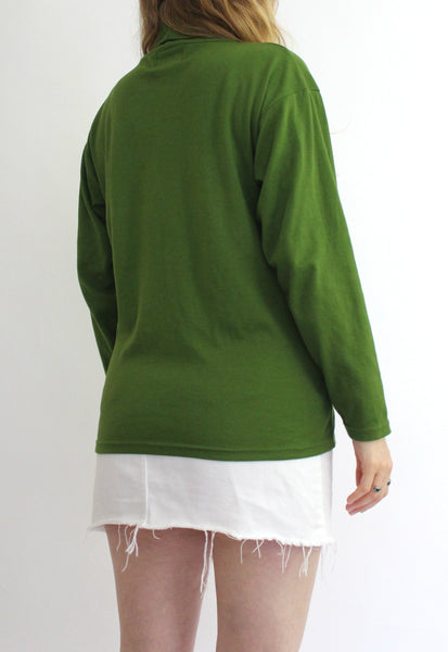 Green Wallis Roll Neck Top