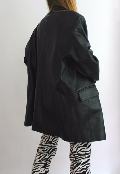 TCM Oversized Real Leather Jacket