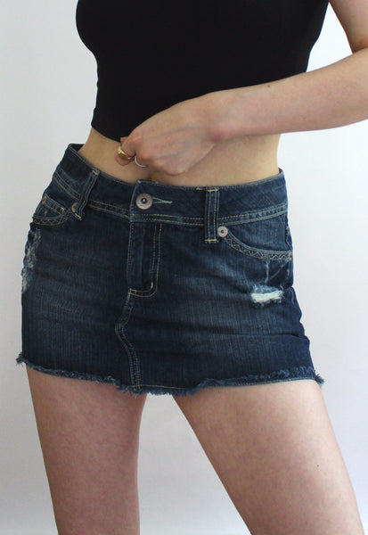 House Of Denim Dark Wash Mini Skirt