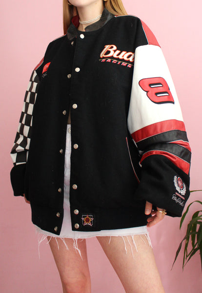 Vintage Black Dale Earnhardt #88 Reversible Racing Jacket