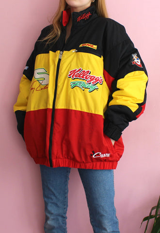 Black/Yellow/Red Chase Authentics Racing Jacket