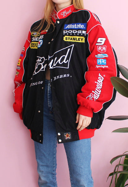 Black & Red Chase Authentics Racing Jacket