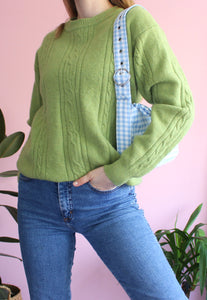 Limey Green Knitted Jumper
