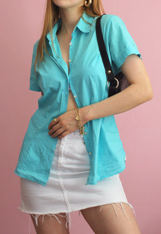 Vintage Blue Blouse