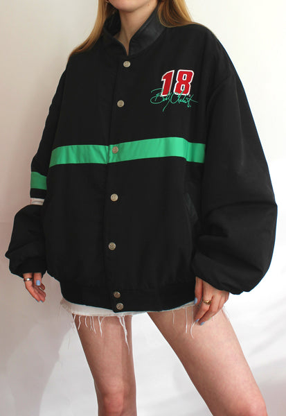 Black & Green Chase Authentics Reversible Vintage Racing Jacket