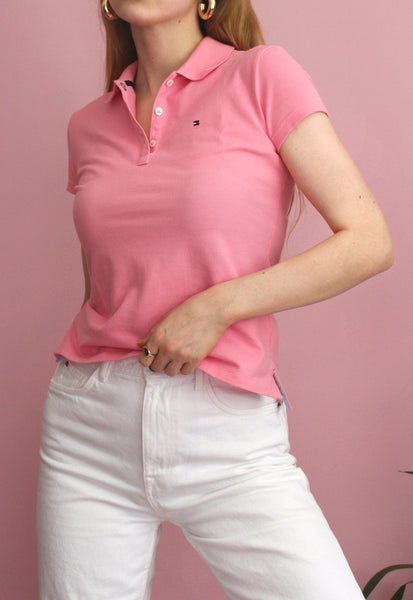 Bubblegum Pink Tommy Hilfiger Polo Top