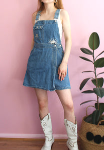 Vintage Sun & Star Denim Dungaree Skort