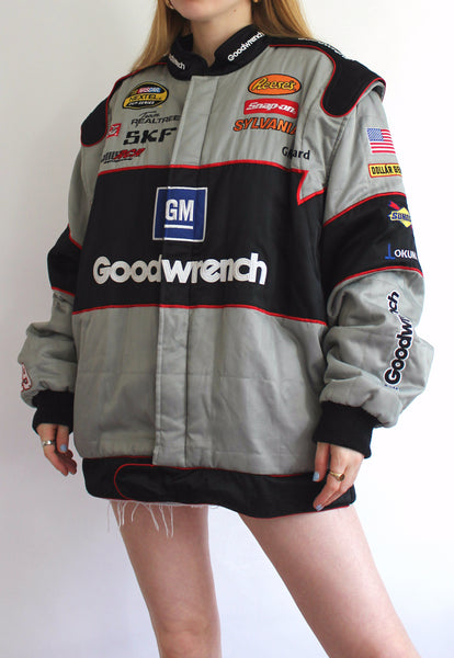 Grey & Black Chase Authentics Goodwrench Padded Vintage Racing Jacket