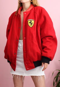 Vintage Red Official Ferrari Jacket