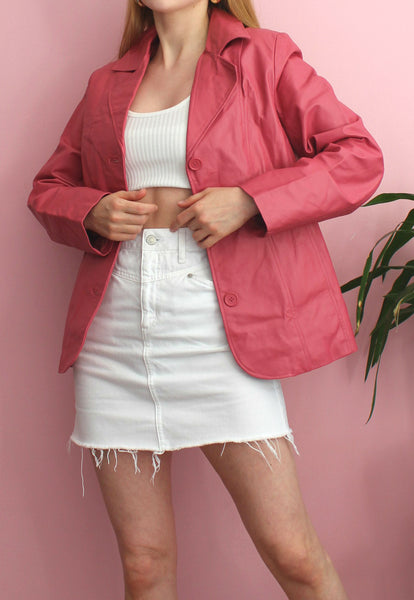 Pink Centigrade Leather Jacket