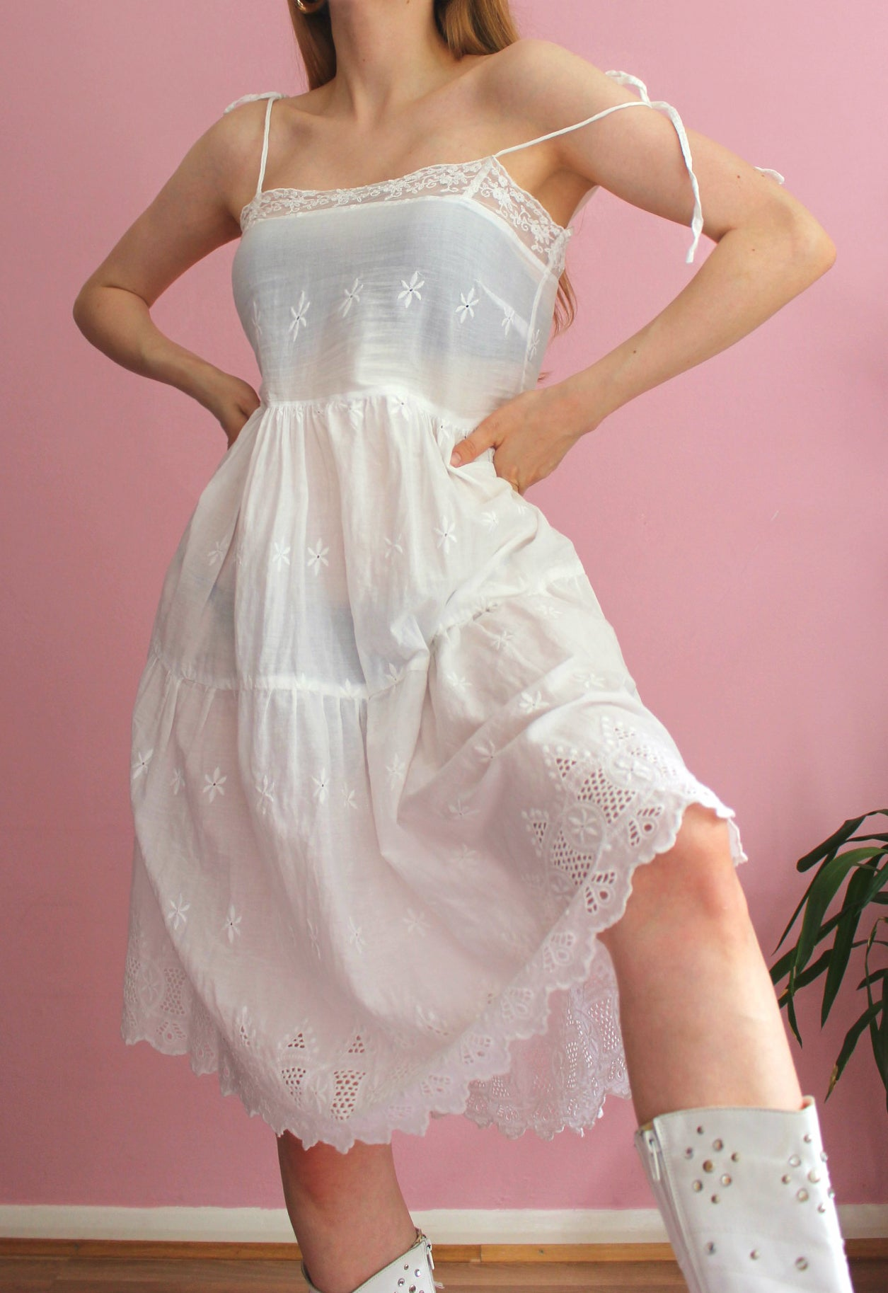 Vintage Lacey Beach Dress