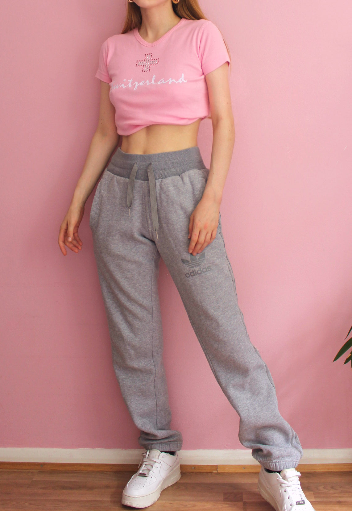 Y2K Grey Adidas Sweatpants
