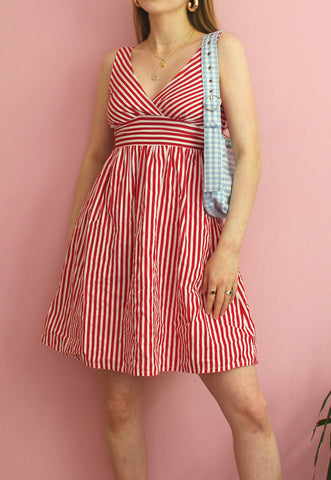 Red & White Striped Summer Dress
