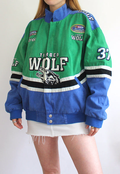 Green & Blue Chase Authentics Timber Wolf Vintage Racing Jacket