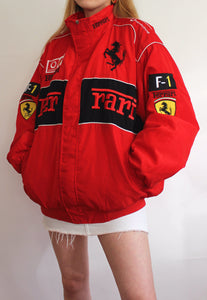 Preloved Bootleg Red & Black Ferrari Racing Jacket