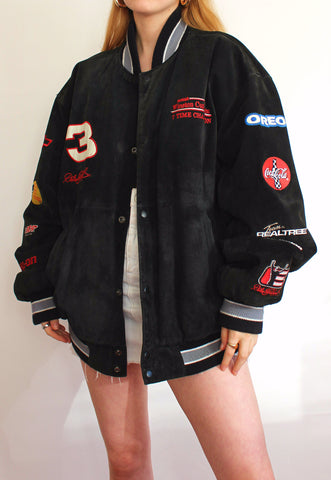 Black Leather Chase Authenitcs #3 Vintage Racing Jacket