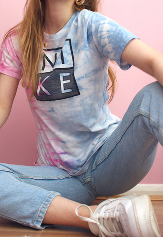 Blue & Pink Hand Dyed Vintage Nike Tee