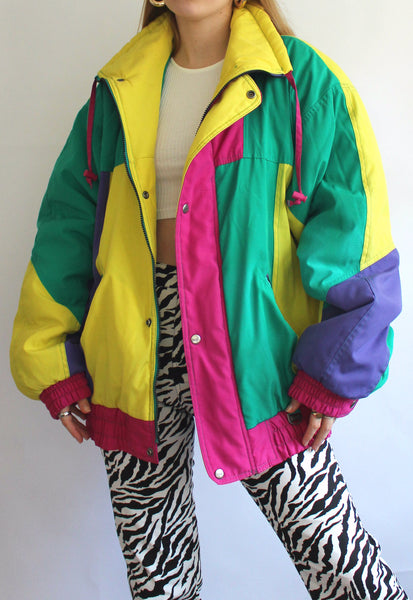 Vintage Colour Block Rodeo Snowboarding Jacket