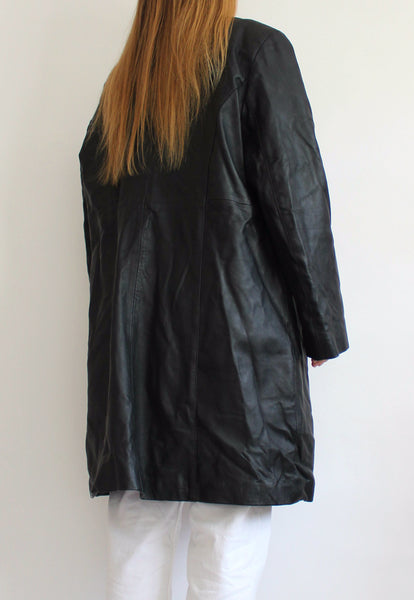 Black Calculus Real Leather Jacket