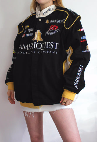 Black & Yellow Chase Authentics Sample Vintage Racing Jacket