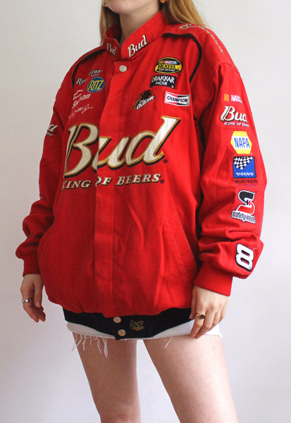 Red Chase Authentics Budweiser Vintage Racing Jacket
